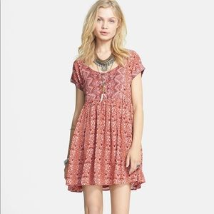Free People Sundown Babydoll Orange dress